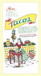 Tacos Flour Sack Dishtowel