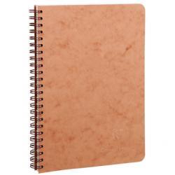 Tan spiral 6x8 notebook
