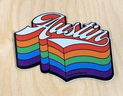 Austin Rainbow Sticker