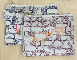 Two color options for the I Love Texas Pouch