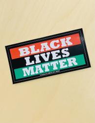 Black Lives Matter Bumper Sticker [Red & Green Stripe]