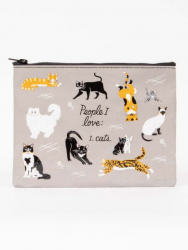 People I Love: Cats Zipper Pouch