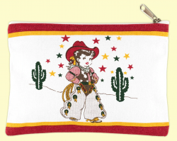 Little Cowgirl Canvas Pouch