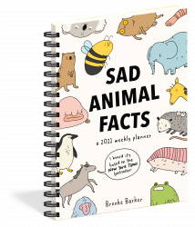 Sad Animal Facts Planner -- Front