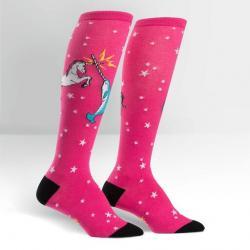 Unicorn vs Narwhal Knee High Socks