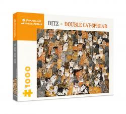 Ditz: Double Cat-Spread 1000-Piece Jigsaw Puzzle