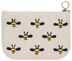 Frida Bees Small Zipper Pouch