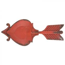 Heart Arrow Metal Tray