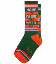Home is Where the Weed is Gym Socks