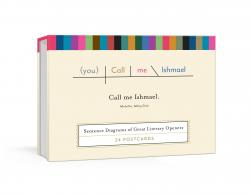 Call Me Ishmael Literary Quotes Postcard Book