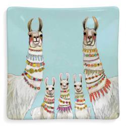 Llama Necklaces Ceramic Trinket Tray