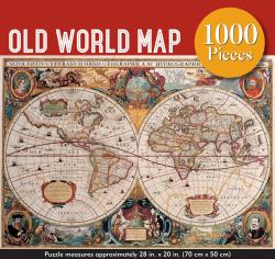 Old World Map Jigsaw Puzzle