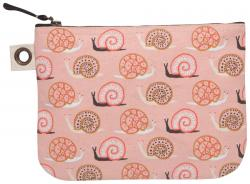 Snail Small World Large Zipper Pouch
