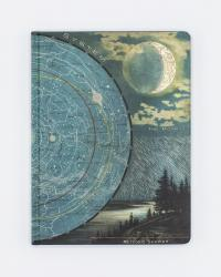 Front cover of Star Map With Moon Notebook