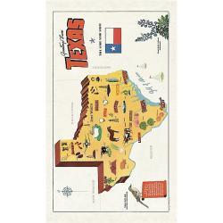 Greetings From Texas Vintage Tea Towel