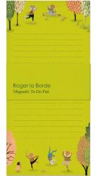 Yoga in the Park Magnetic Notepad
