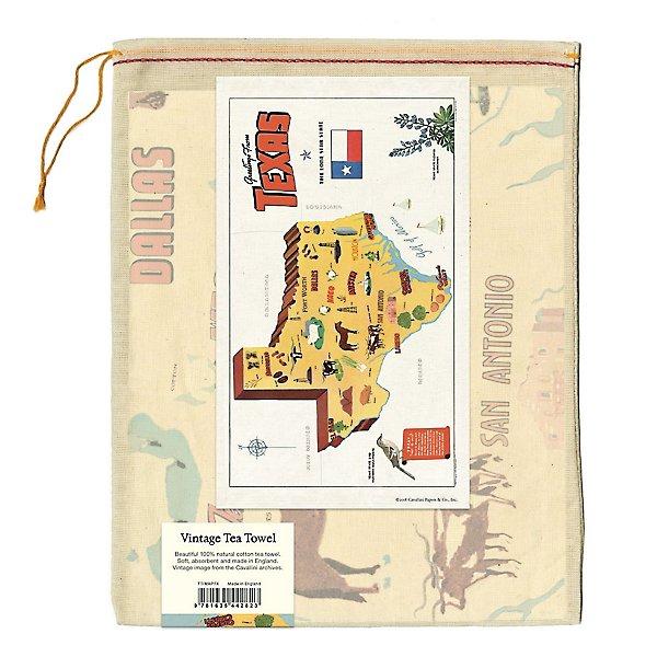 Texas Tea Towel in muslin bag