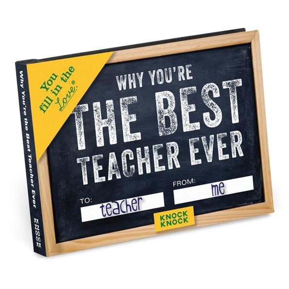 Best Teacher Ever! Fill In The Blank Book