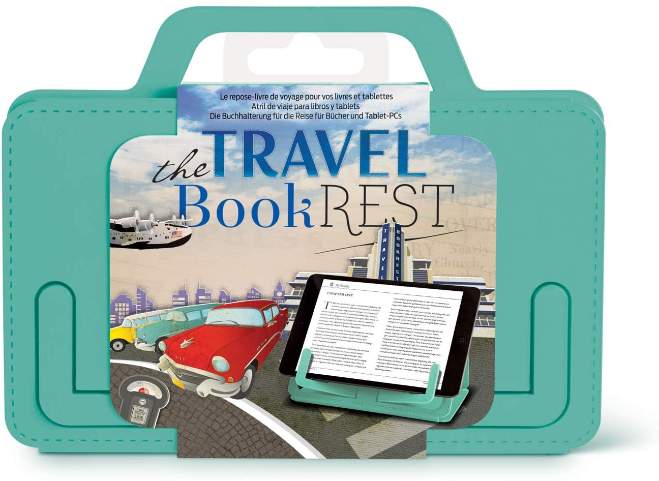 Travel Book Rest in Seafoam Green