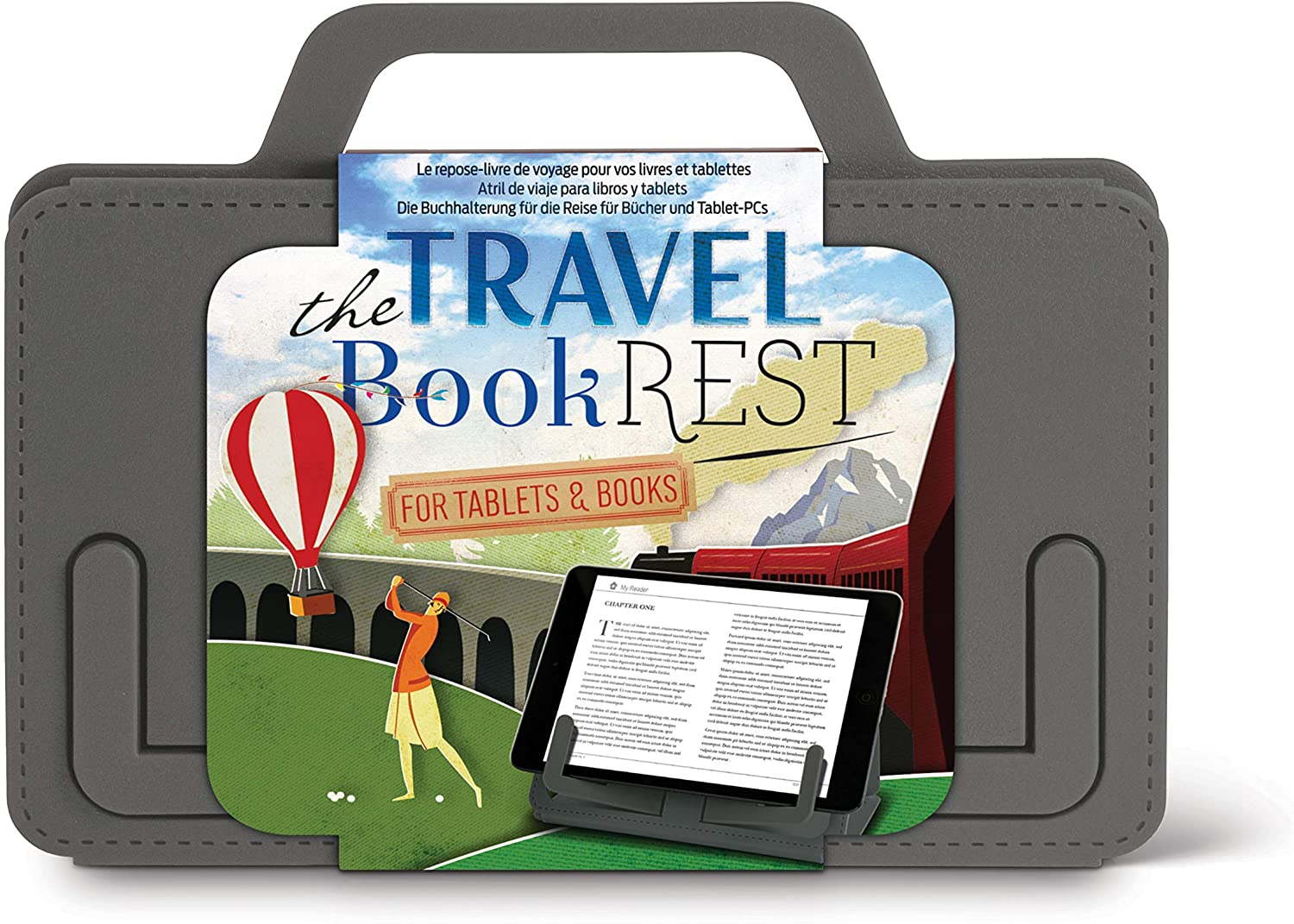 Travel Book Rest in Gray