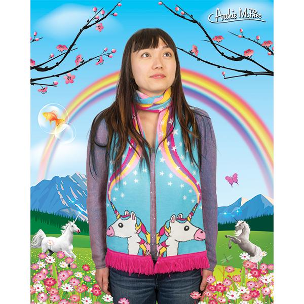 Knit Unicorn Scarf