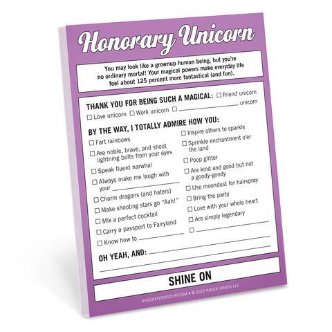 Honorary Unicorn Nifty Notepad