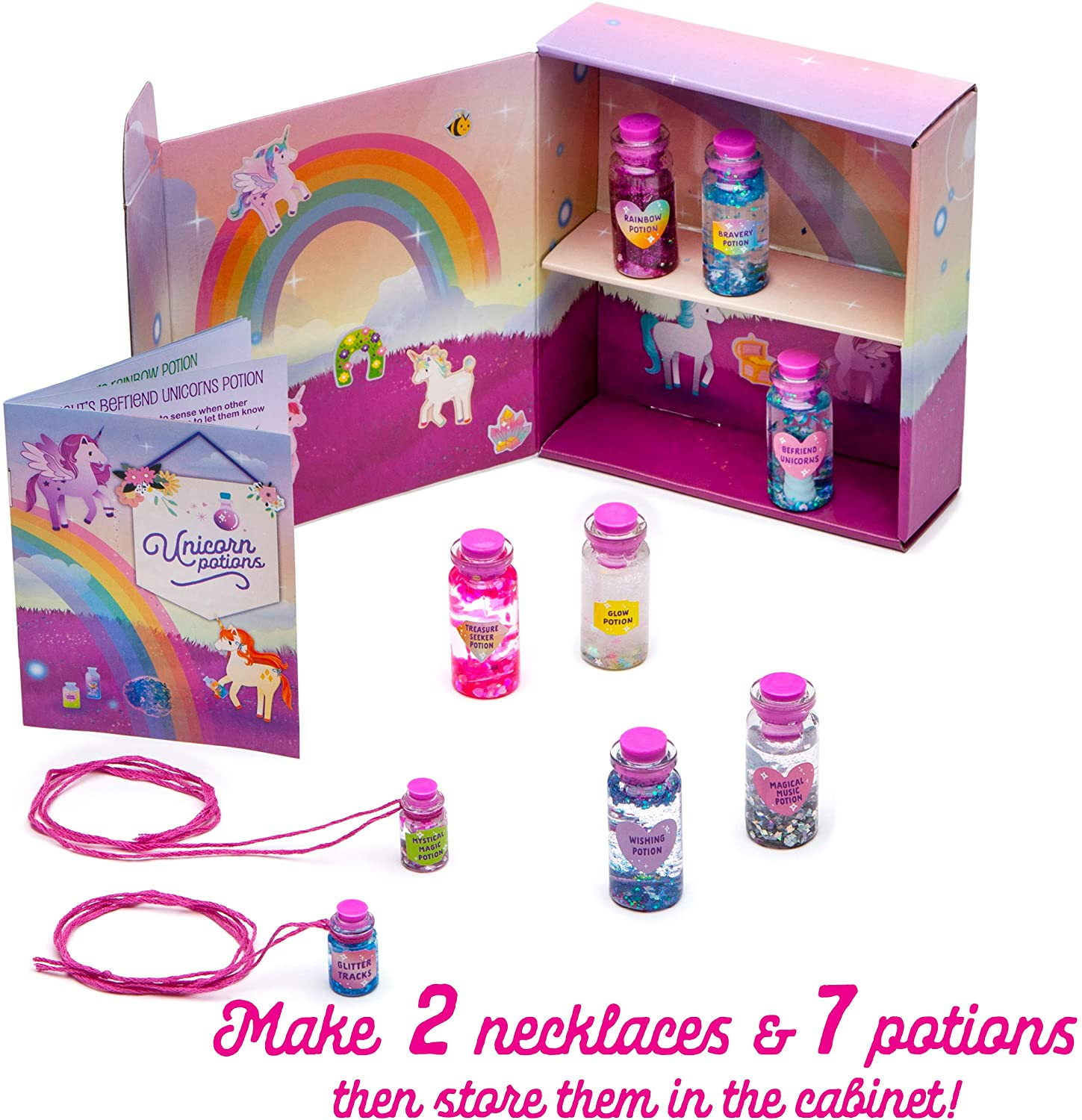Examples of finished unicorn potion vials