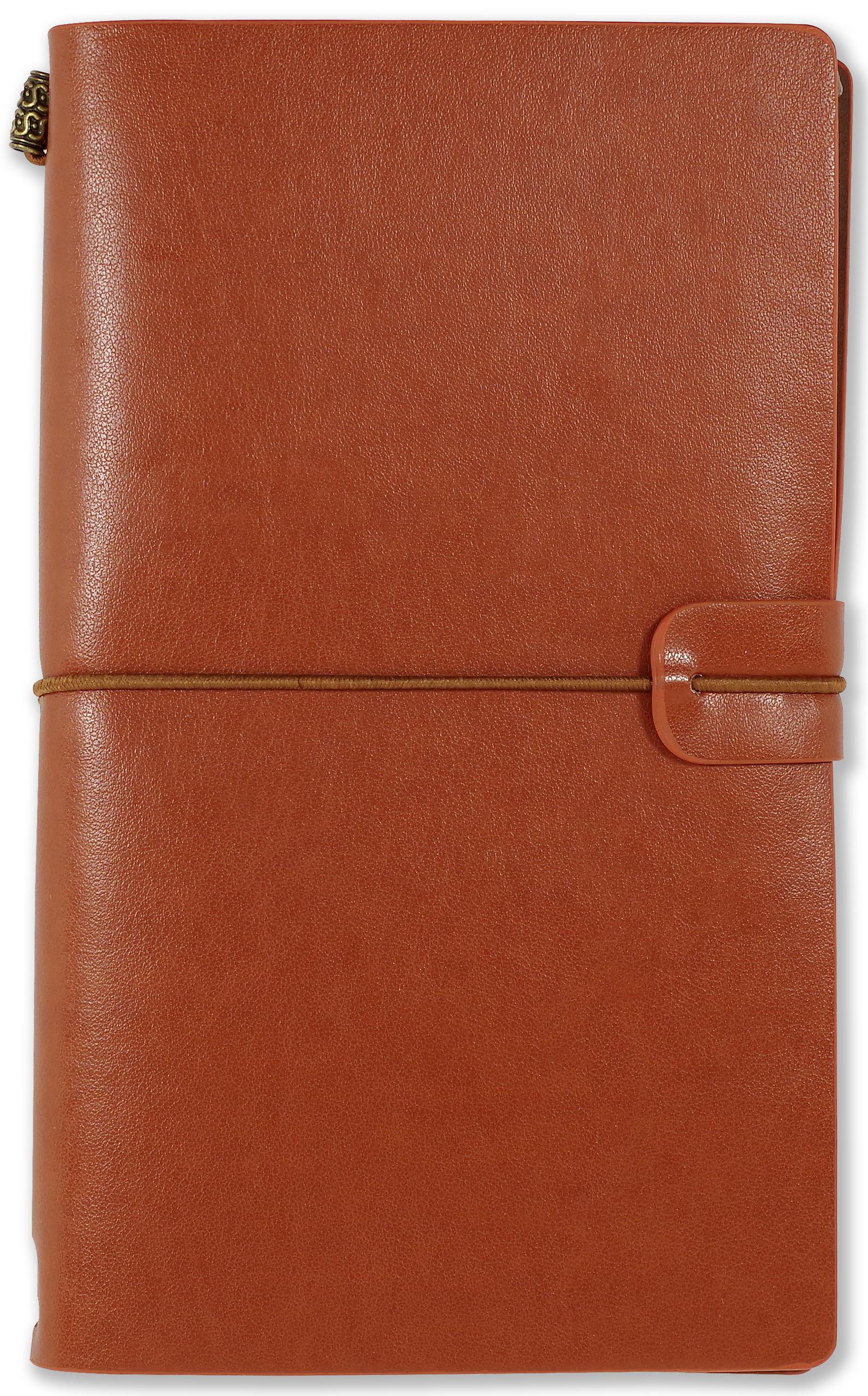 Voyager Notebook in nutmeg brown