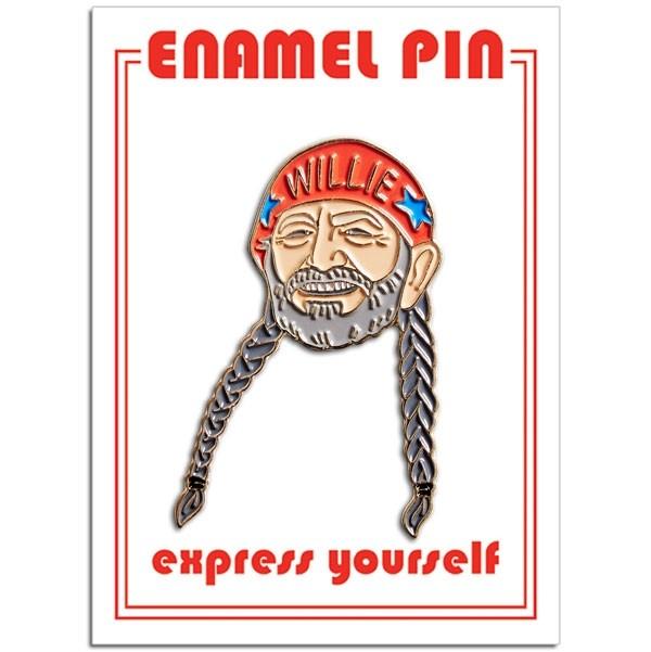 Willie Nelson Enamel Pin