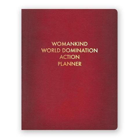 Womankind World Domination Action Planner Journal Large Size